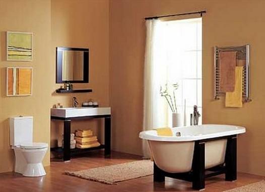 卫生洁具和空间装饰的整体效果.根据浴室面积的大小可奢可